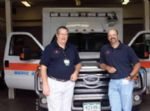 Paramedics Jim Richardson (left) and Gabe Muething oversee all aspects of the Aspen Ambulance District.