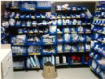 The IMC storage room before and after RN Andrew Lieberman color-coded and reorganized nursing equipment and supplies as part of Project Lean.